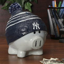 New York Yankees Piggy Bank - Large With Hat