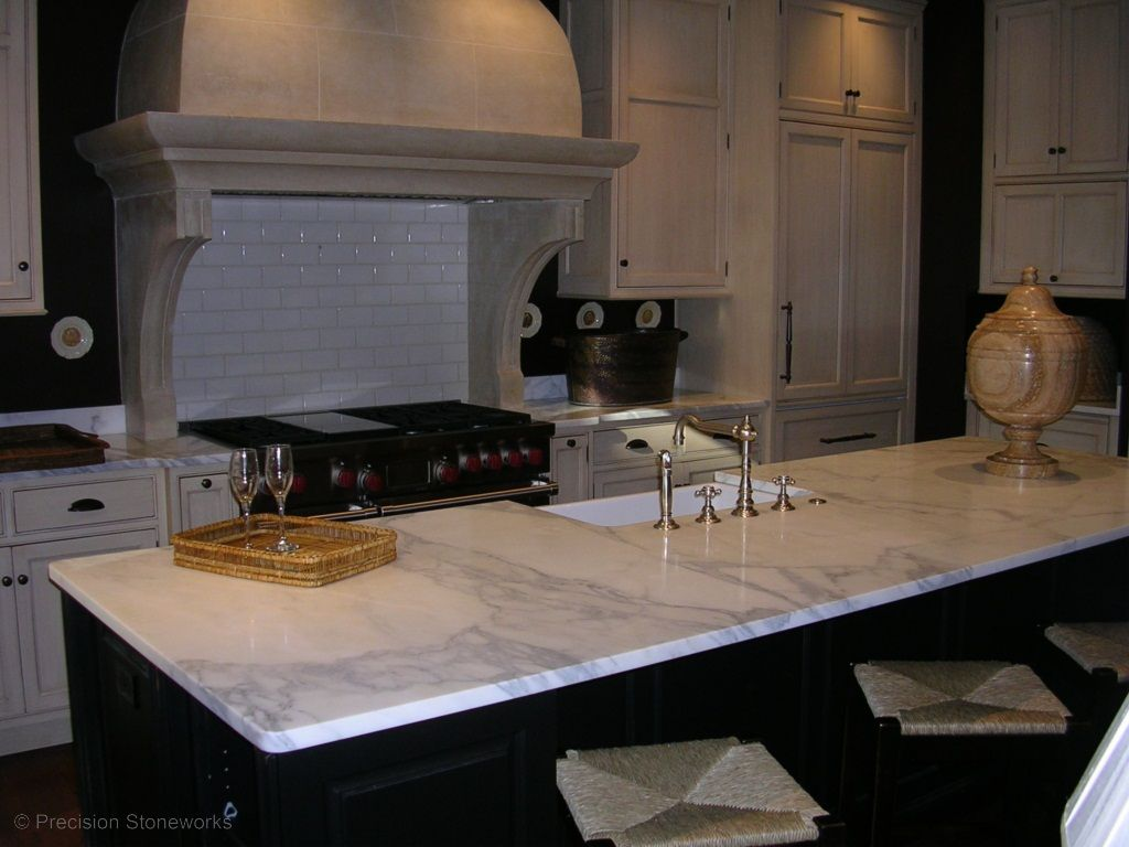 Pictures Of Kitchen With Marble Countertops Marble And Granite Kitchen Countertops Kitchens