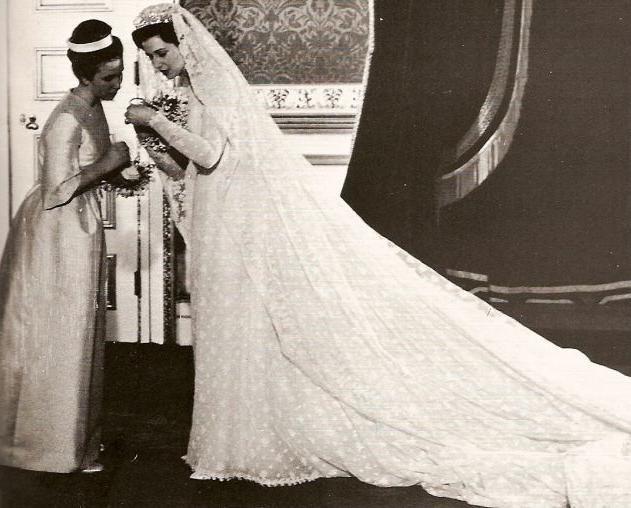 Princess Alexandra of Kent on her wedding day 1963, with her chief ...