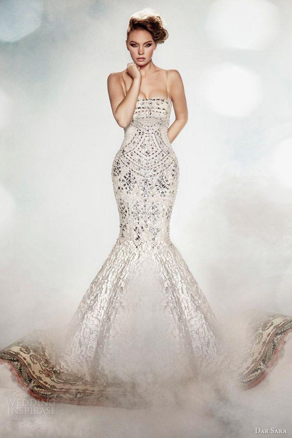 Dar Sara Wedding Dresses 2014 | Sequin wedding dresses, Wedding ...