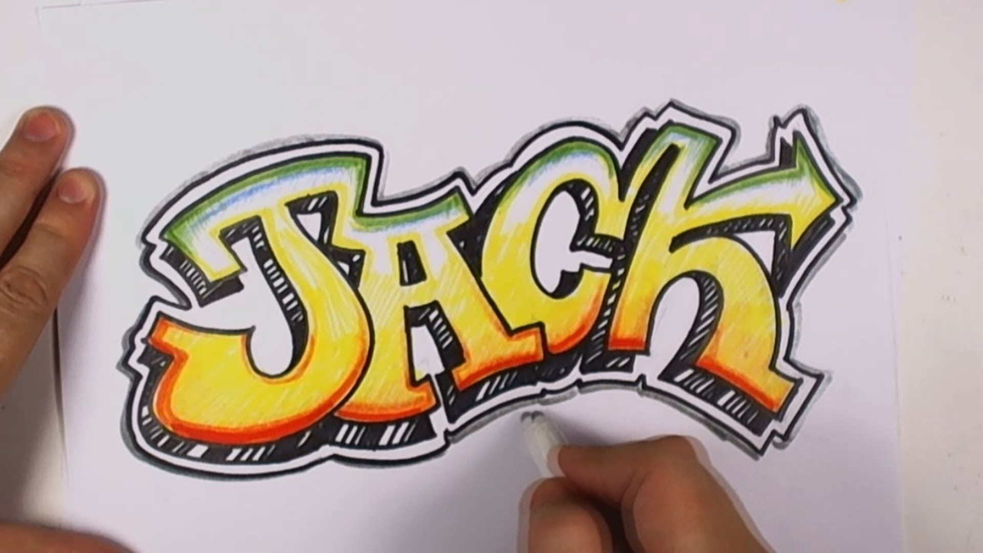 How to Draw Graffiti Letters Jack in Graffiti Lettering