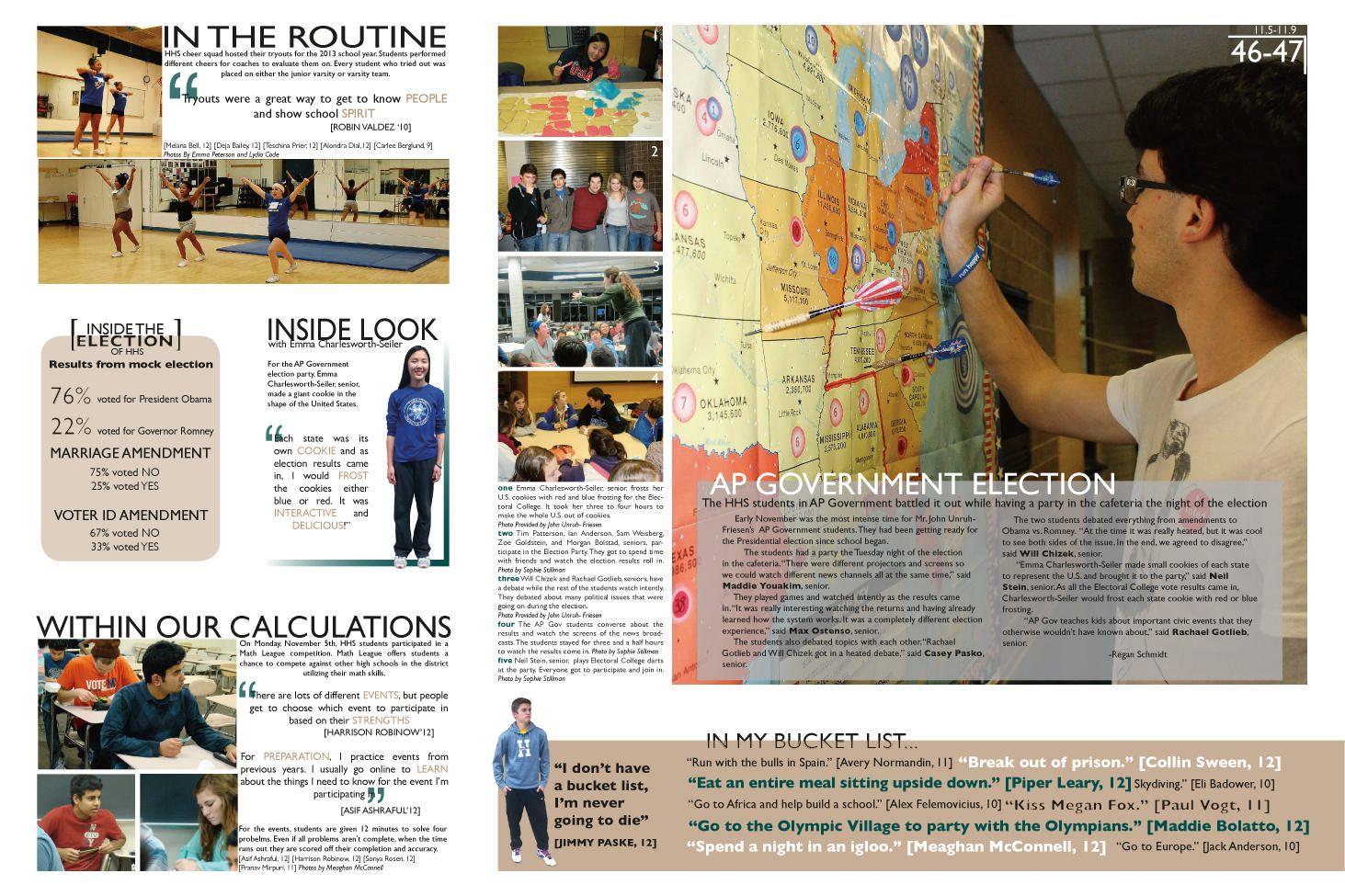 Yearbook Class Layout Headline