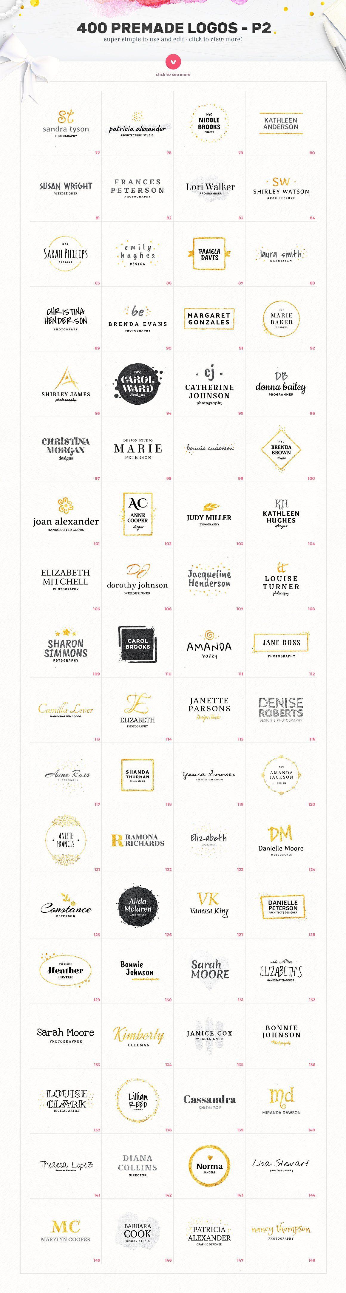 Lady Logo Bundle - 400 Logos by AlienValley on @creativemarket