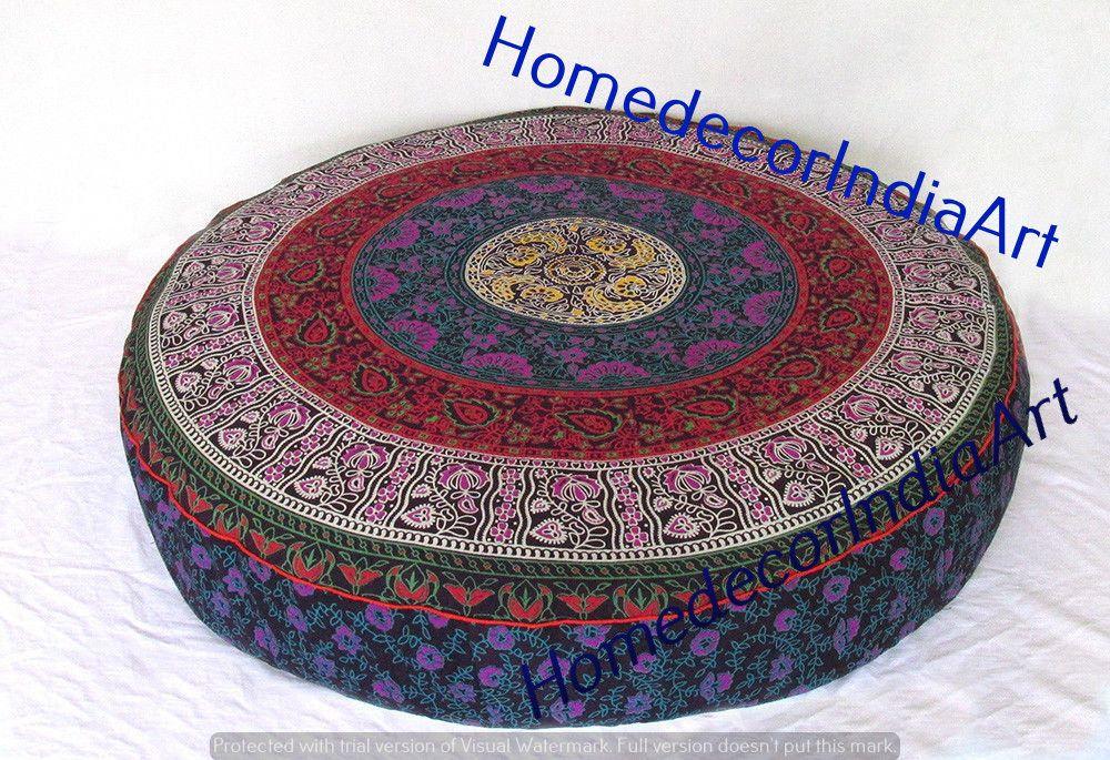 Indian Multi 35 Large Floor Cushion Cover Elephant Etsy