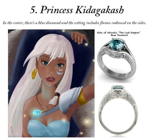 disney inspired engagement rings princess kida - Disney Inspired Wedding Rings