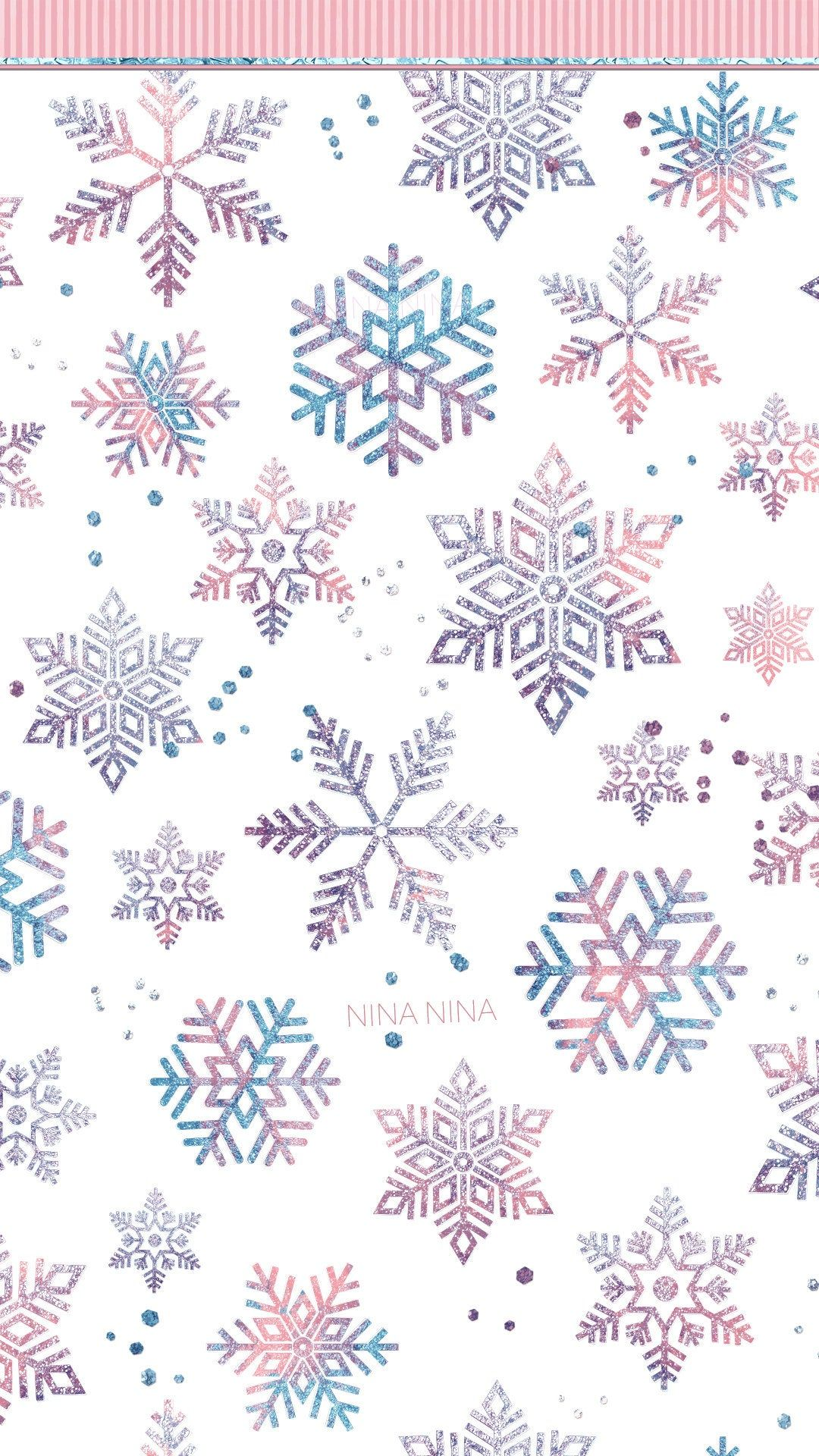 Watercolor Snowflakes Digital Papers Blush and Blue Seamless | Etsy