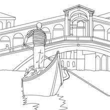 Coloriage Gondolier Sur Sa Gondole Adult Coloring Pages