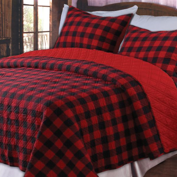 Boys bedroom quilts red and black Master bedroom with red bedding