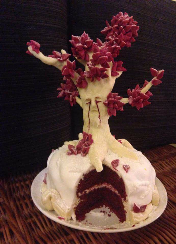 game of thrones weirwood tree cake cakes pinterest. Black Bedroom Furniture Sets. Home Design Ideas