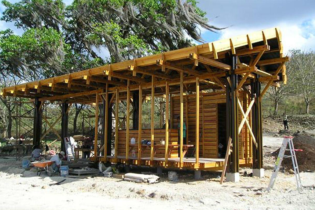 Estructura De Madera Proyecto Entrada A Urbanización Apanás Jinotega Estructuras De Madera De Madera Casas