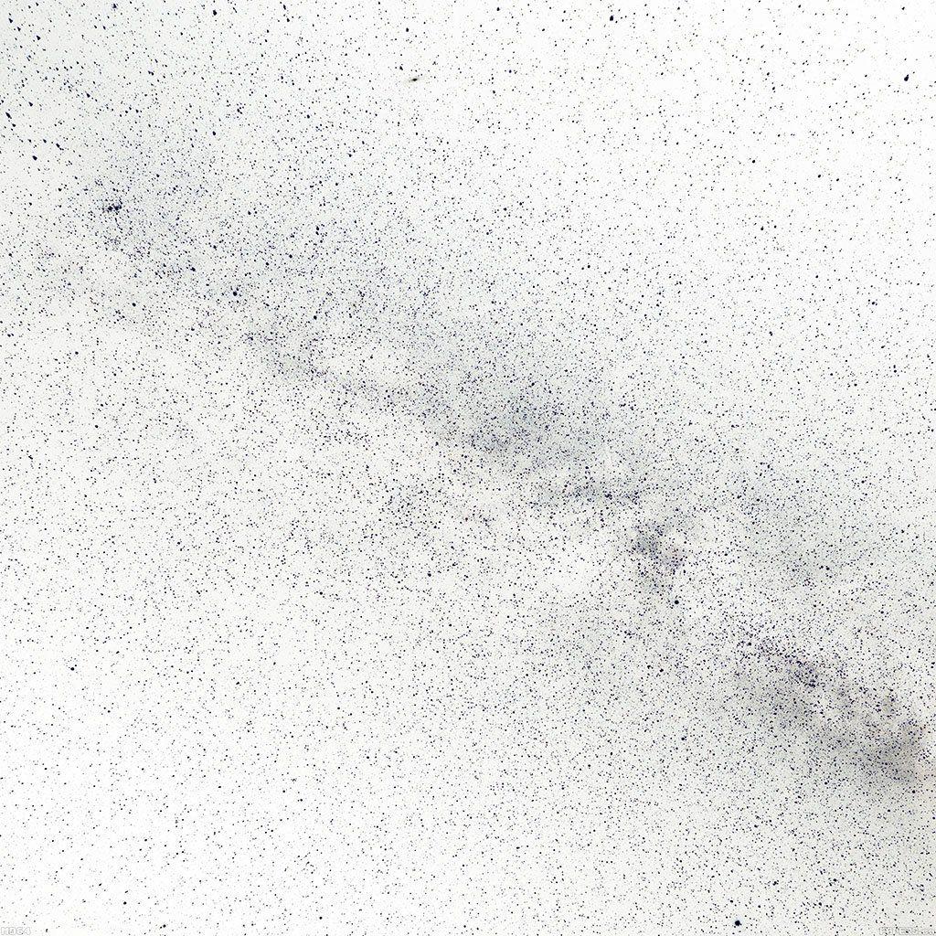 milky way in white