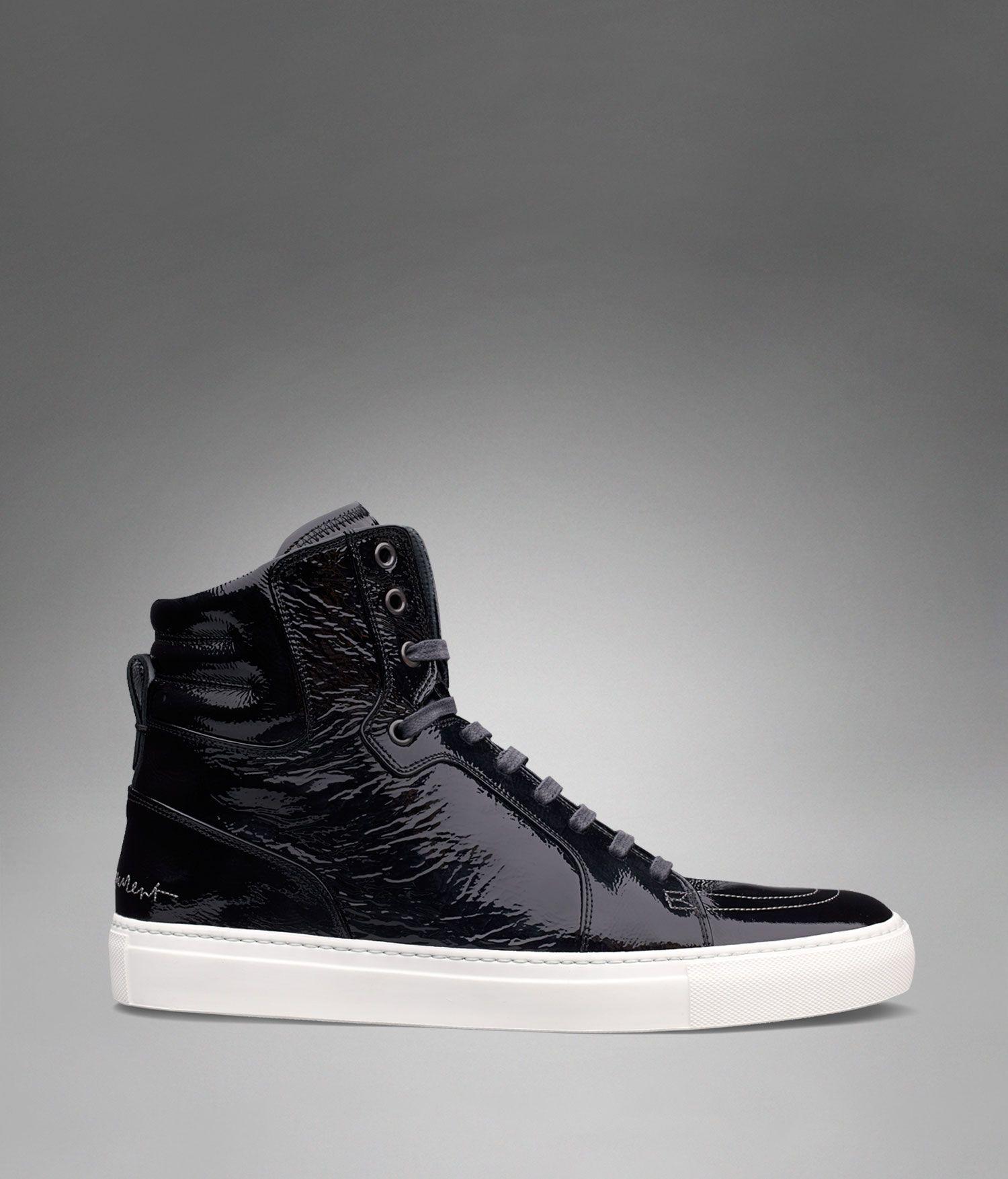 patent hi-top sneakers - Black Saint Laurent 7D7L6