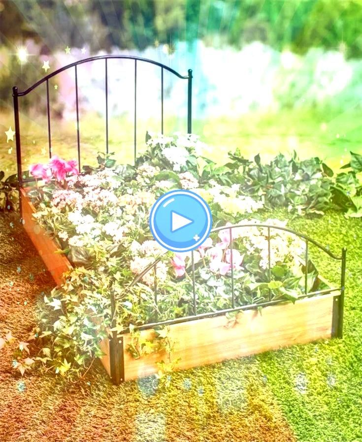 Bed Look Plants Flowers Garden Lawn Yard Decor Headboard Footboard WoodGarden Bed Look Plants Flowers Garden Lawn Yard Decor Headboard Footboard Wood Frame It All Two Inc...