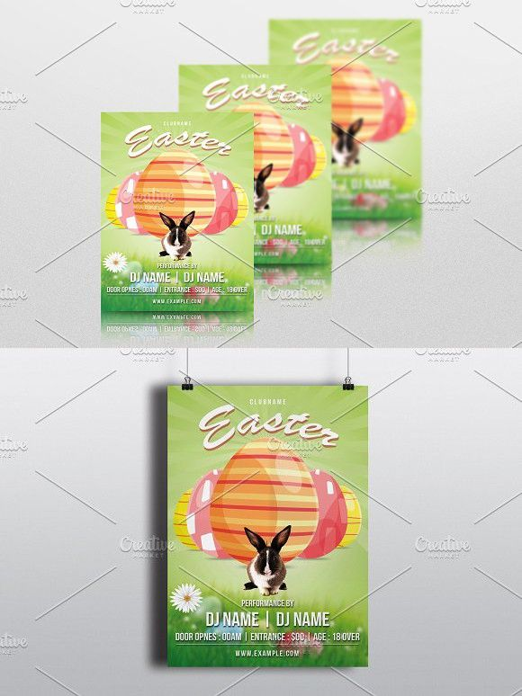 Easter Invitation Flyer-V785 Easter Invitations, Event Flyers And
