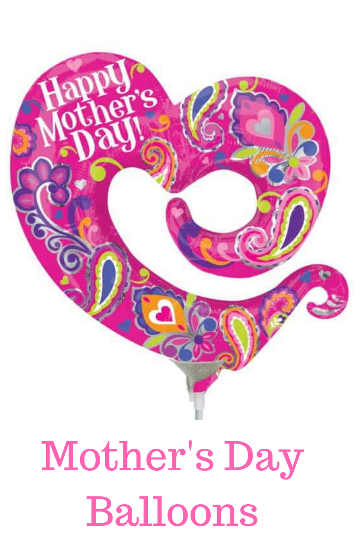 Happy Mothers Day Open Heart Supershape 5 45uninflated Happy Mothers Day Swirl Open Heart 30 Inch X 31 Inch Super Mothers Day Balloons Balloons Balloons Online