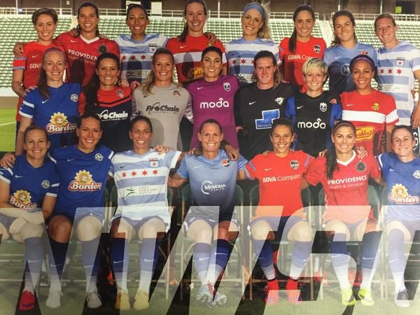 2015 Uswnt Roster Wearing Their Nwsl Kits Usa Soccer Women Uswnt Soccer Uswnt