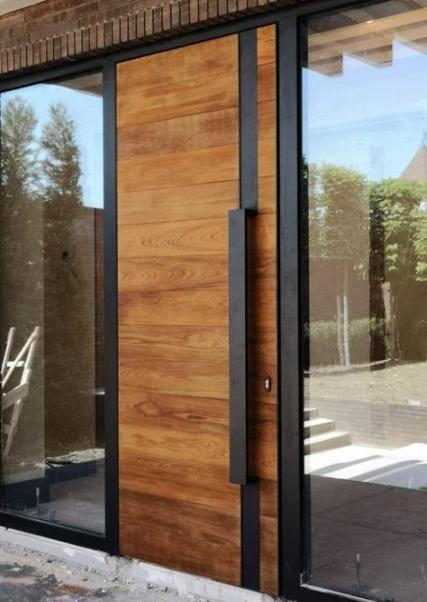 16 Ideas For Modern Front Door Design Ideas Window Modern Front Door Rustic Doors Front Door Design