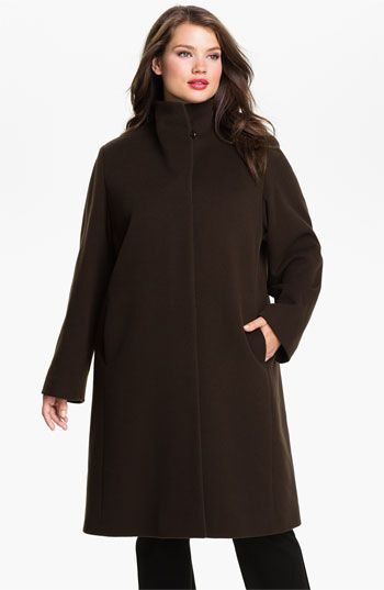 f35d73157a0 Cinzia Rocca Fly Front Walking Coat (Plus)