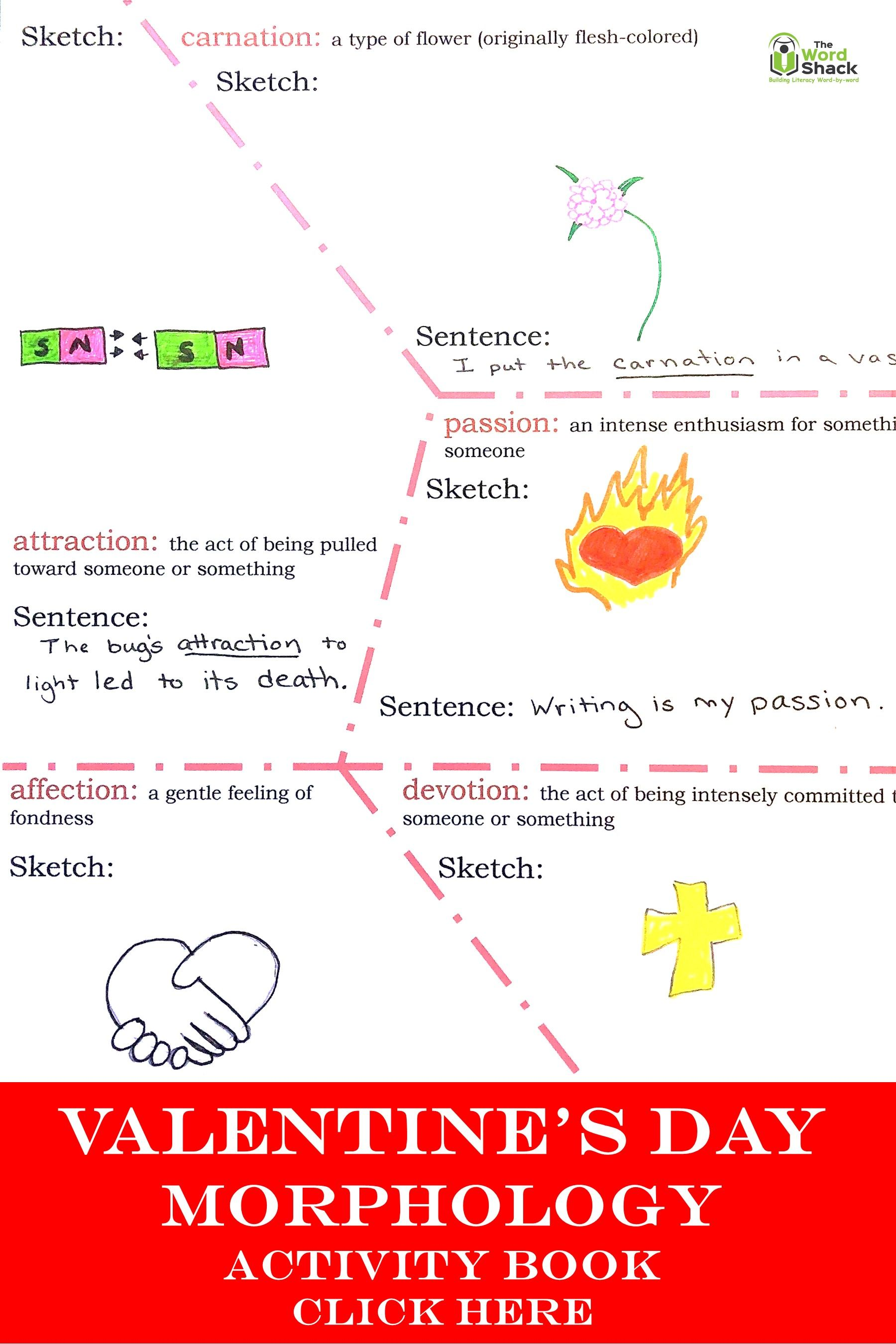 Valentine S Day Vocabulary