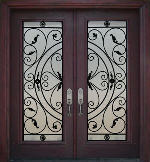 Double Front Exterior Doors Fiberglass | Iron Entry Doors Iron Front Doors  Wrought Iron Doors Wrought