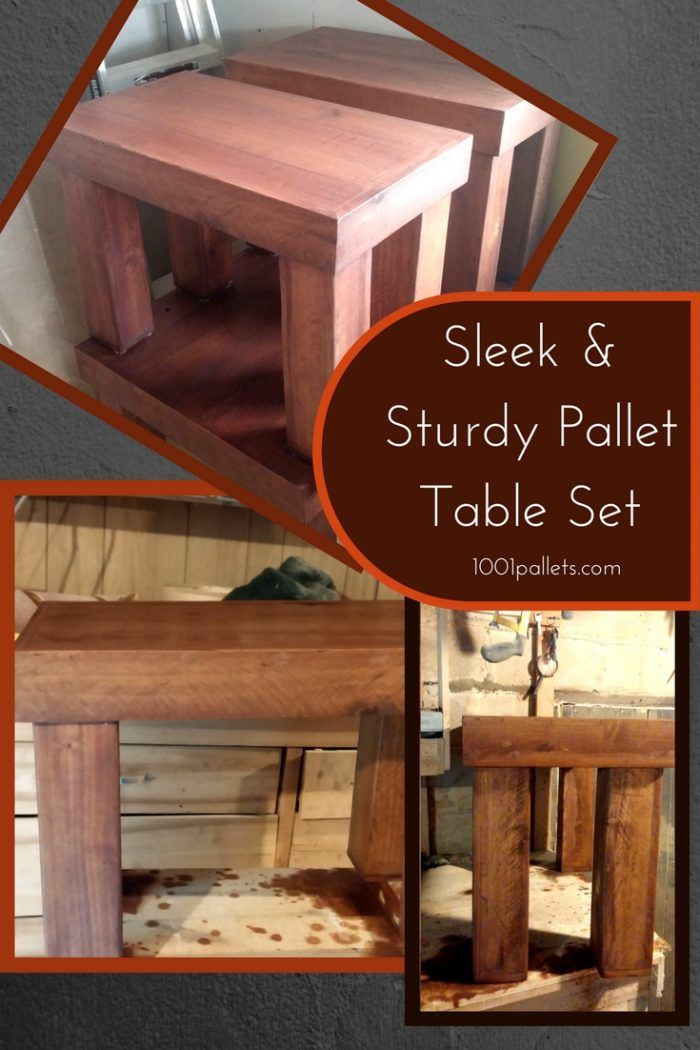 Pallet Table Set: Beautiful Coffee/End Table Trio! | Pallet coffee table diy, Diy coffee table ...