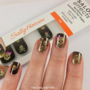 Sally Hansen Salon Effects Nail Stickers Skull And Crossbows