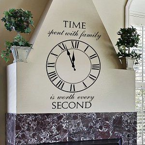 Time Spent With Family Stencil $28 and up https://www.walltowallstencils.com/stencil/ww268a/Time+Spent+With+Family Comes in Custom sizes and reusable option availablel. Great for repurposing and upcycling furniture. Perfect for pallets, walls and floors. #clockstencils