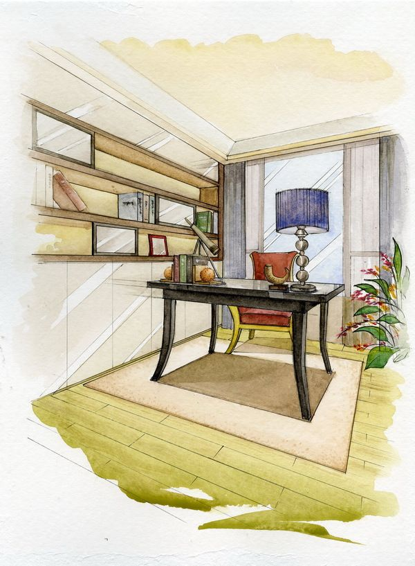Watercolor Rendering By Wenyu Zhou Via Behance With Images