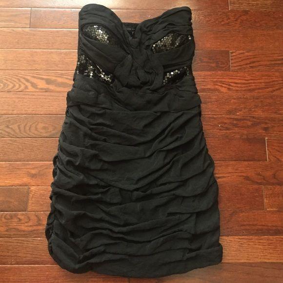 Love Culture Party dress Tasteful black strapless dress. Sequin details on bust. Stretchable back. Love Culture.  TRADES. Offers welcome! Love Culture Dresses Strapless