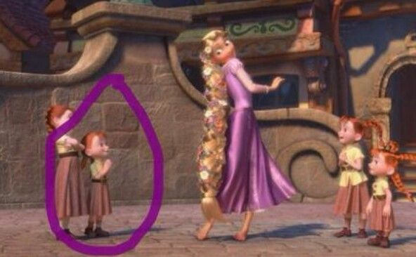is this frozen's Anna in the tangled movie??
