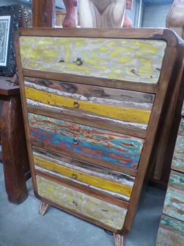 Bc- Recycled-Boat-Furniture Factory Bali  ~ Painted Furniture