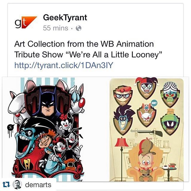 Our little show got some more spotlight. Thanks for sharing @demarts.  #Repost @demarts with @repostapp.  It was nice to see @fanalley and the WB Animation Tribute Show (@tayenkim @_mhiraishi @tanoshiboy @gabbyzapata @ericpinedaart @jackiehuangxu @daynehenry @joshjlewis @ohhisusiepie etc.) get some love from GeekTyrant.com. Great work everyone!  by tanoshiboy