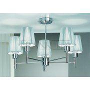 FL2126/5 Zing 5 Light Modern Ceiling Semi-Flush Pendant