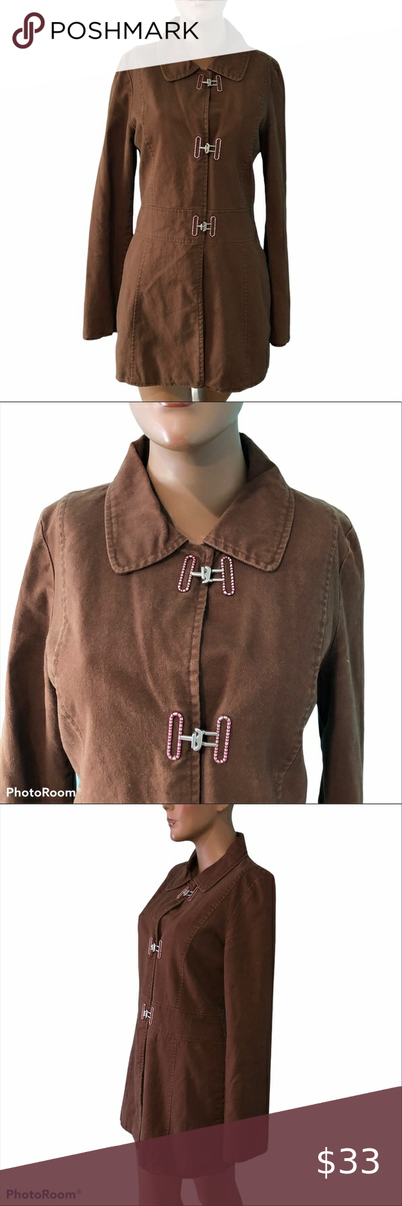 Fossil Casual Metal Clasp Button Jacket L Jacket Buttons Jackets Women Shopping [ 1740 x 580 Pixel ]