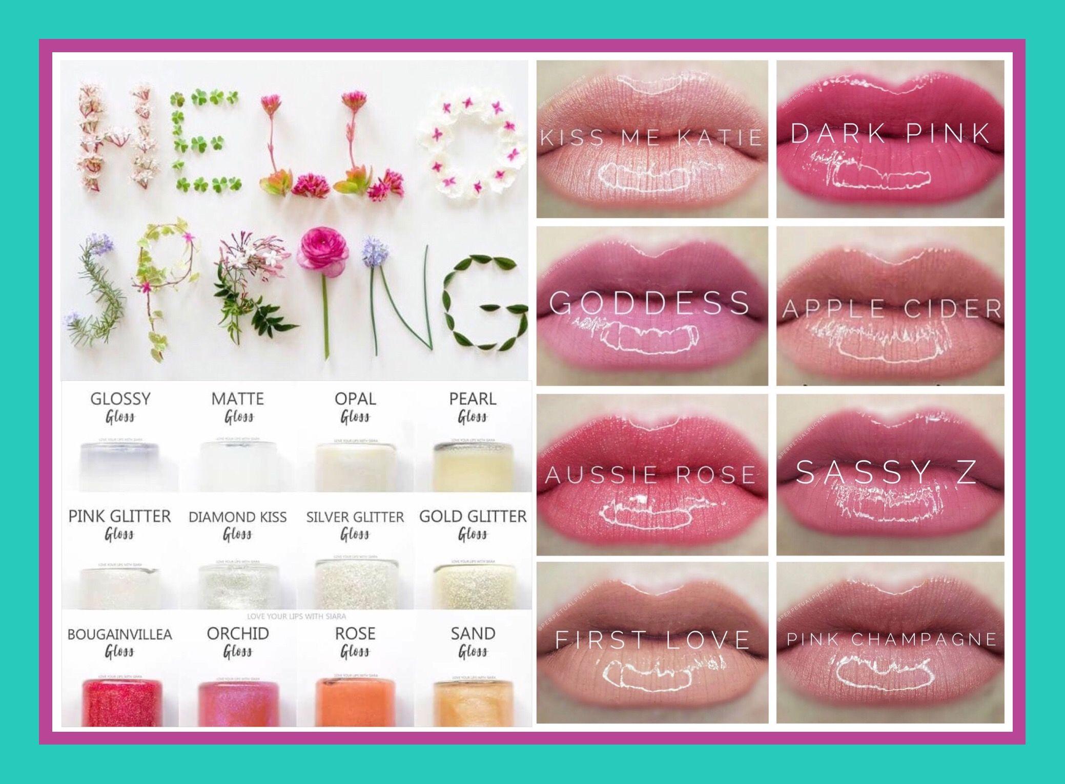 Spring Senegence lipsense, Lipsense, Lipsense colors