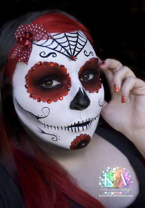 dia de los muertos sugar skull by katiealves on deviantart