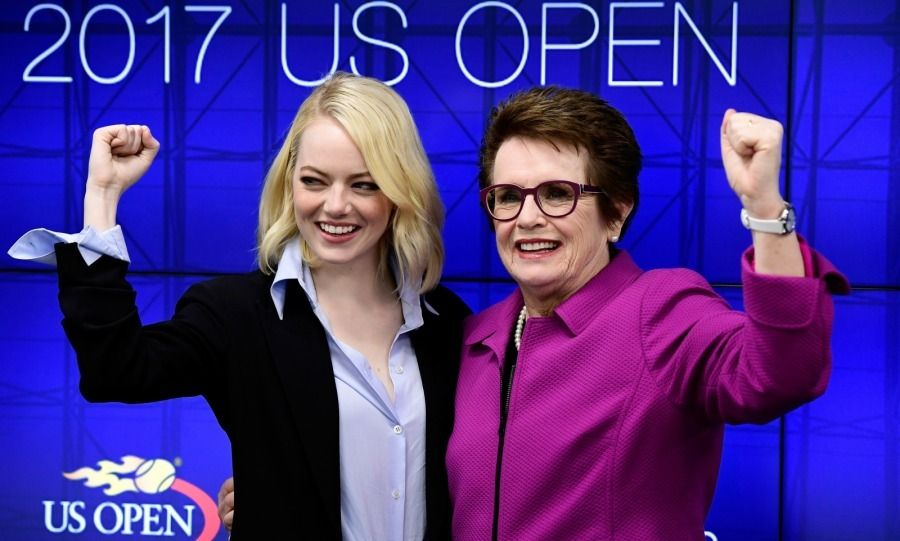 Us Open 2017 All The Stars In The Stands And Highlights Emma Stone Billie Jean King Bobby Riggs