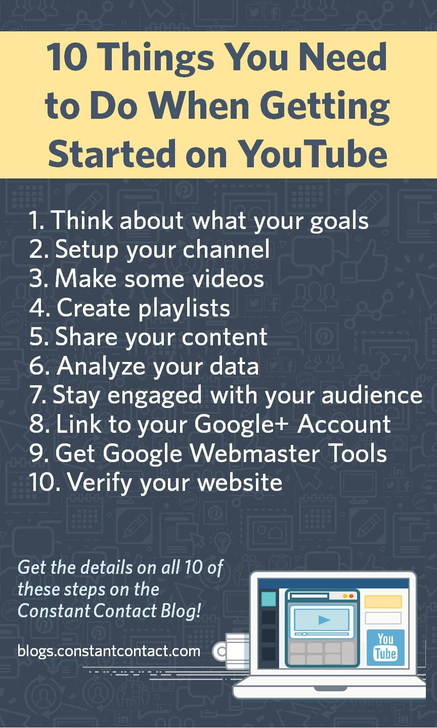 10 Things You Need to Do When Getting Started on YouTube ...