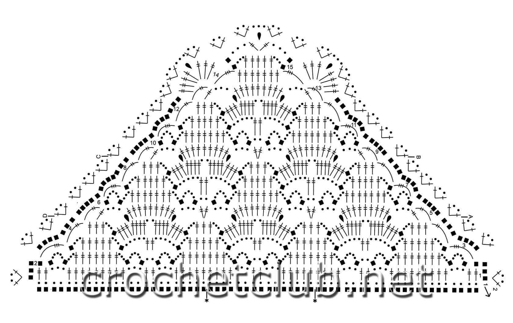 Схема вязания крючком шали виноград фото 758