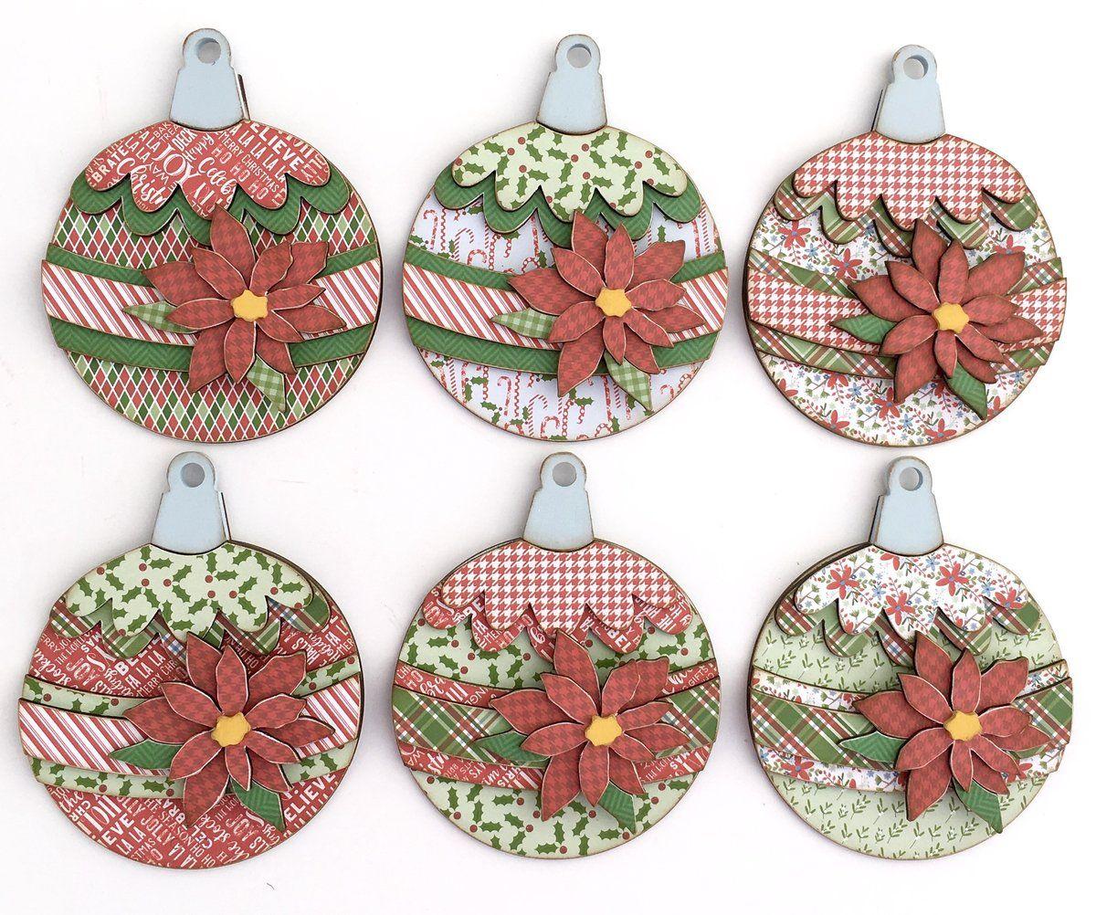 Christmas Ornaments/Garland Wood Decor DIY Craft Kit Diy