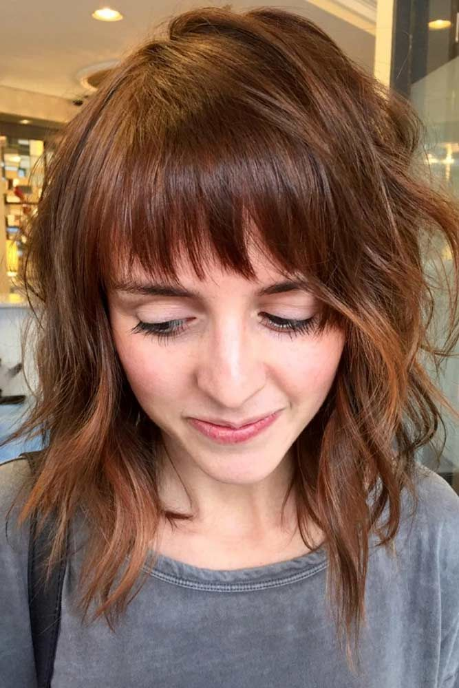 36 Modern Medium Hairstyles with Bangs for a New Look | Medium ...