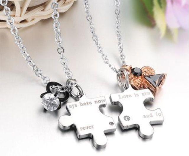 f13d605106 Cute couple necklace $44.99 | ☆ accessorize ☆ | Cute couple ...