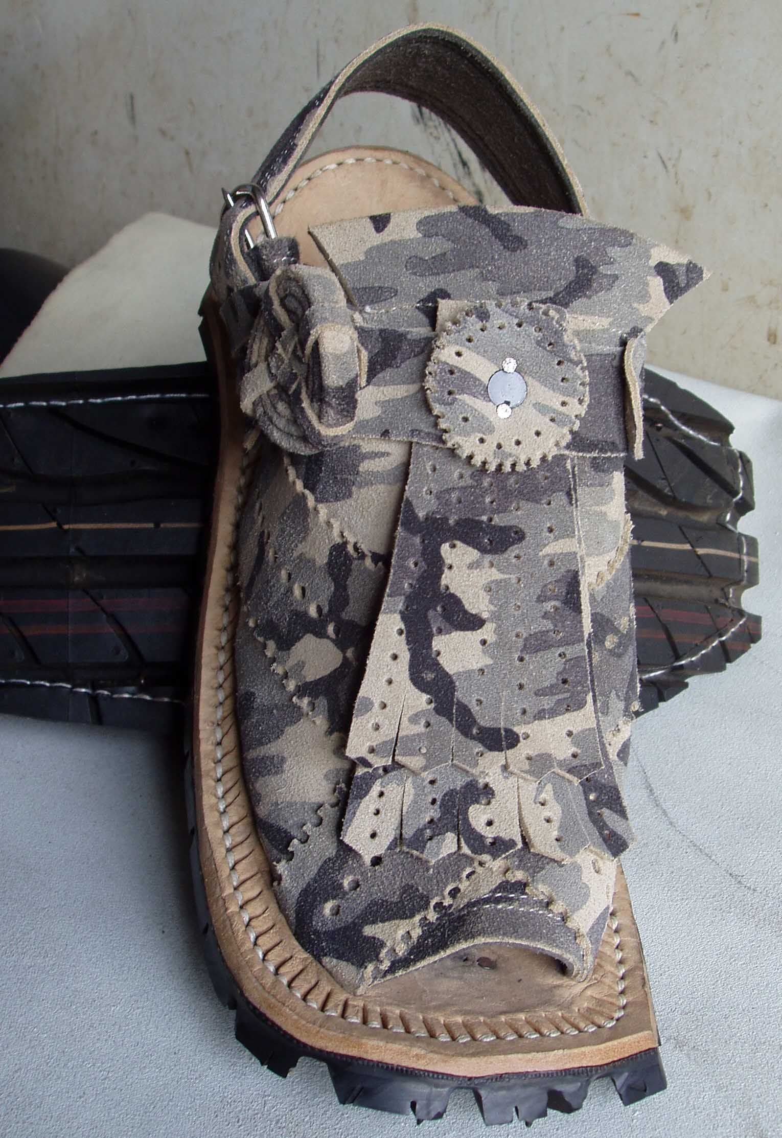 Balochi Turpang Sandals Product Information: Product Code: MF-008 Balochi  Handmade Leather Sandals – Turpang (Camouflage) 100% Handmade, Pure Leather  Price: ...
