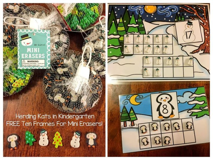 free ten frames pack to go along with the winter themed mini erasers from target dollar spot. Black Bedroom Furniture Sets. Home Design Ideas