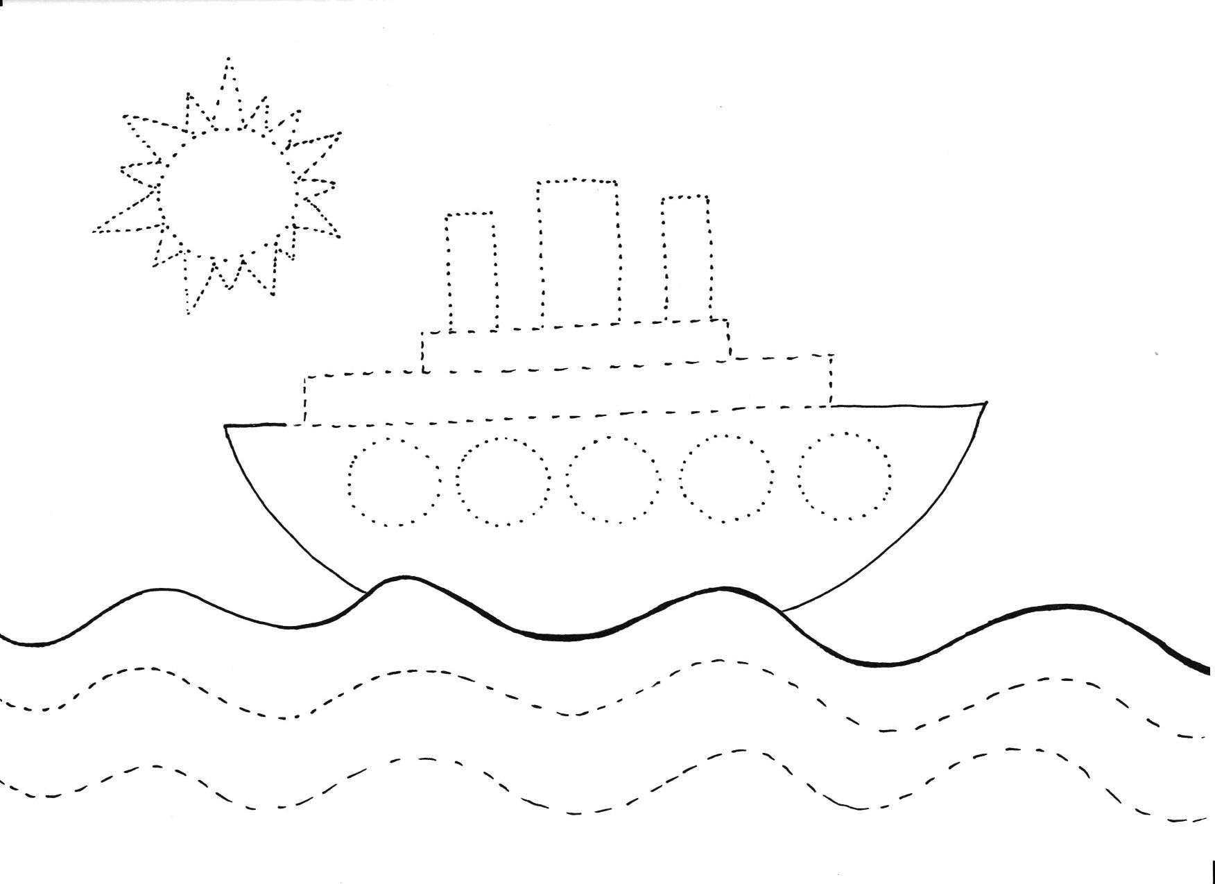 Statek Grafomotoryka Moje Dzieci Kreatywnie Funky Fingers Kids List Of Activities