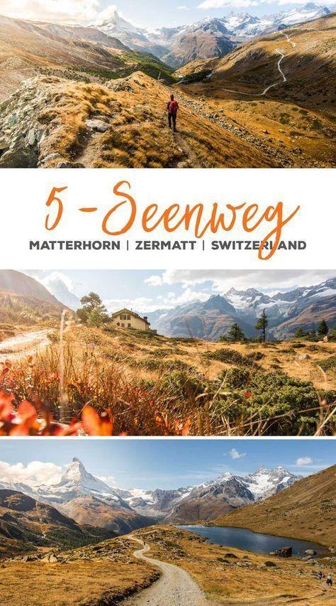 5-Seenweg Zermatt – Wandern am Matterhorn im Wallis #holidaytrip