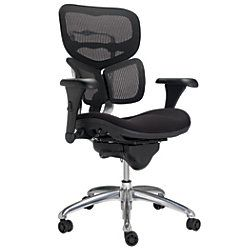 WorkPro mercial Mesh Back Executive Chair Black by fice Depot ficeMax