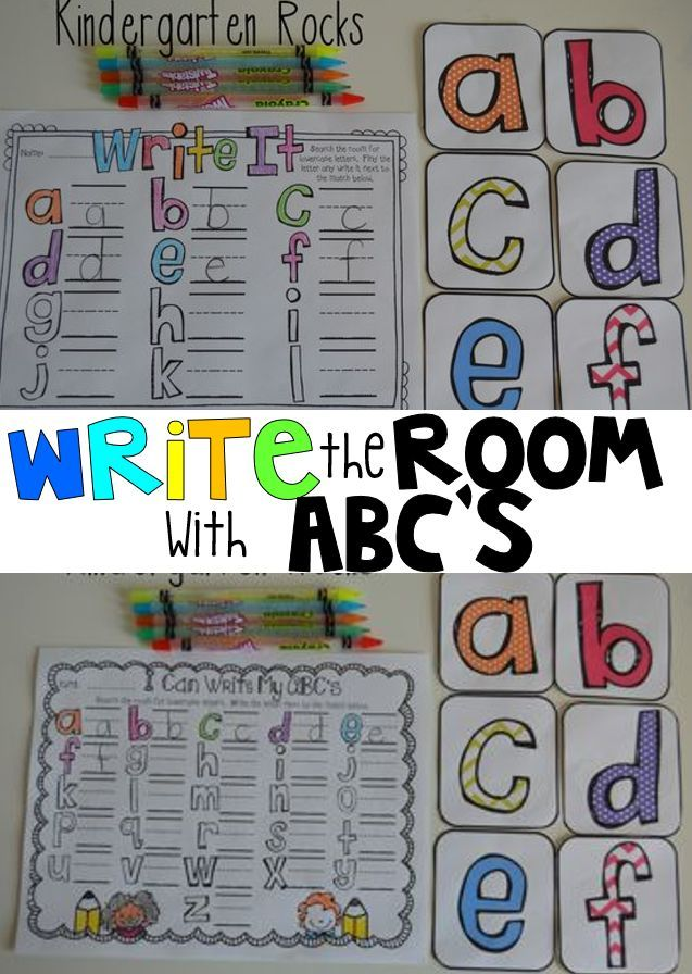Write The Room With Letters Uppercase And Lowercase Educational