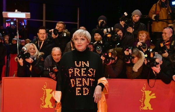 """Claudia Roth of the German Green party arrives for the opening of the 67th Berlinale film festival with the premiere of """"Django"""" in Berlin on February 9, 2017. / AFP / John MACDOUGALL"""