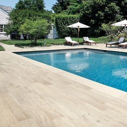 Floor And Decor Pool Tile Wood Plank Porcelain Tile Makes For An Easytomaintain Pool